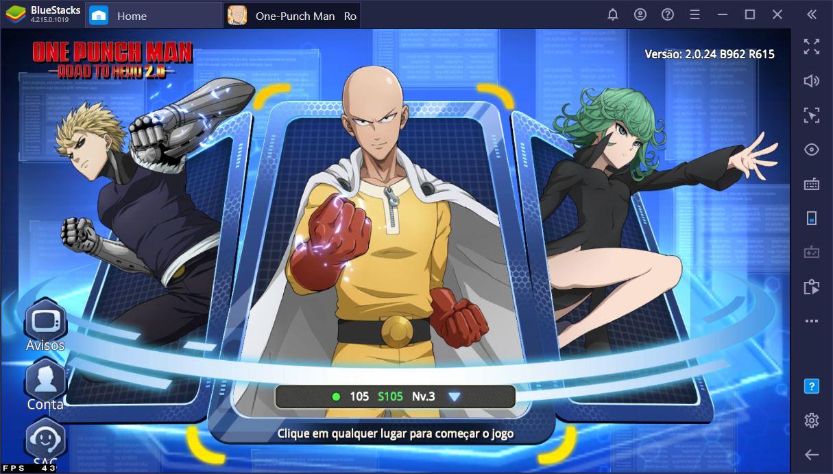 Guia para iniciantes One Punch Man: Road to Hero 2.0