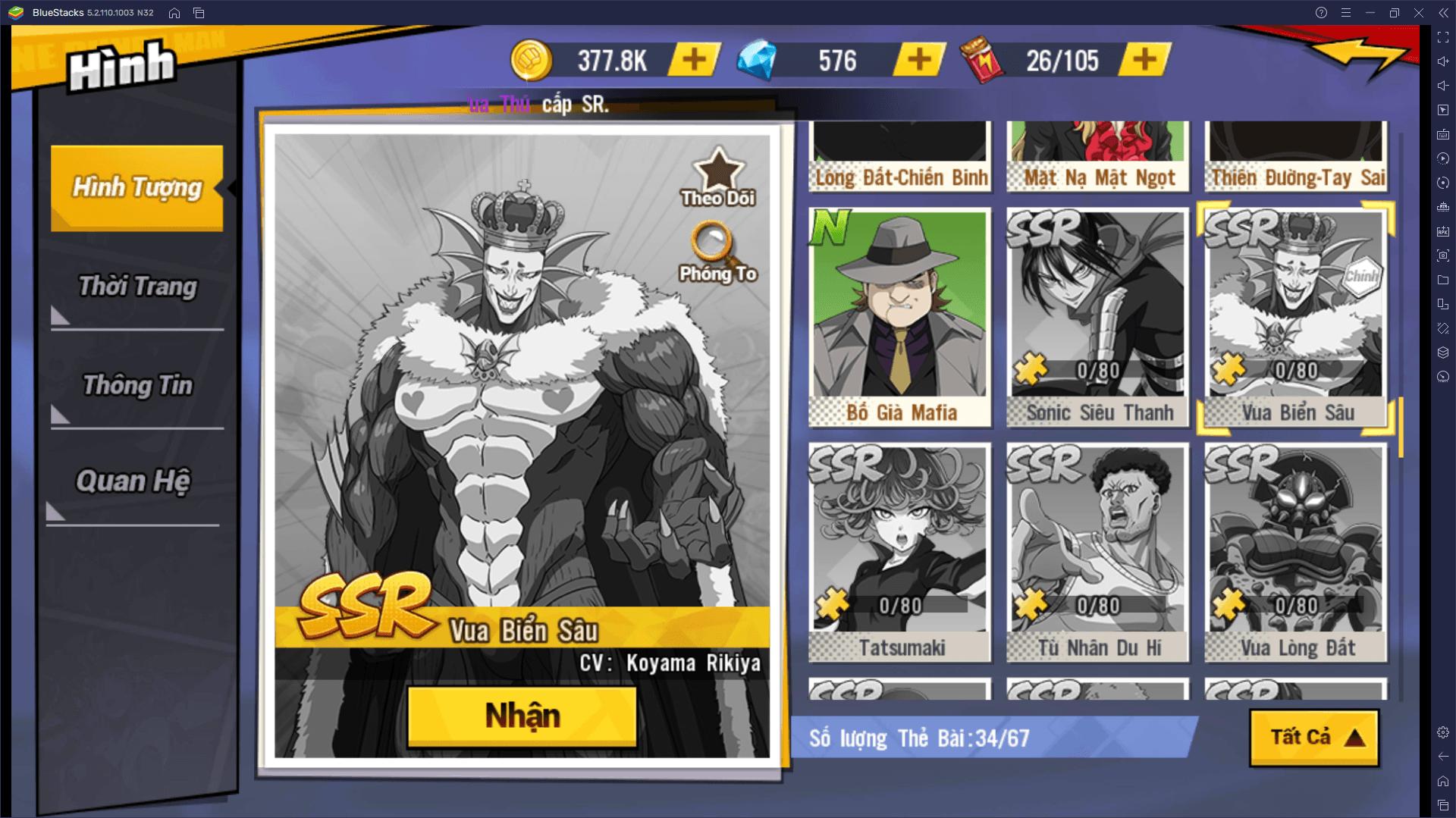 Các nhân vật mạnh nhất nên chiêu mộ trong One Punch Man: The Strongest
