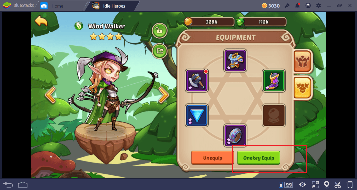 Idle Heroes on PC: Equipment, Artifacts, and Treasures Guide