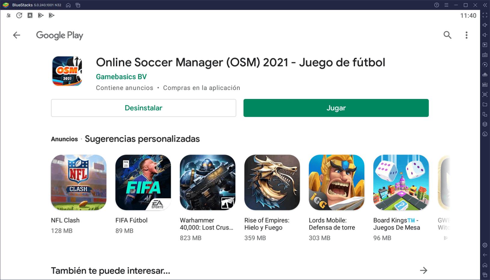 Cómo Instalar y Jugar Online Soccer Manager 20/21 en PC con BlueStacks