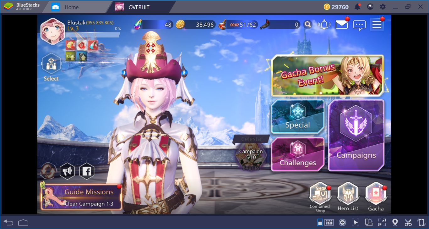 Let's Play Overhit On BlueStacks And Collect All The Heroes
