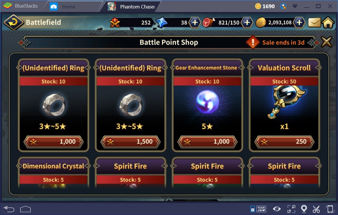 Phantom Chaser BattlePoint Shop