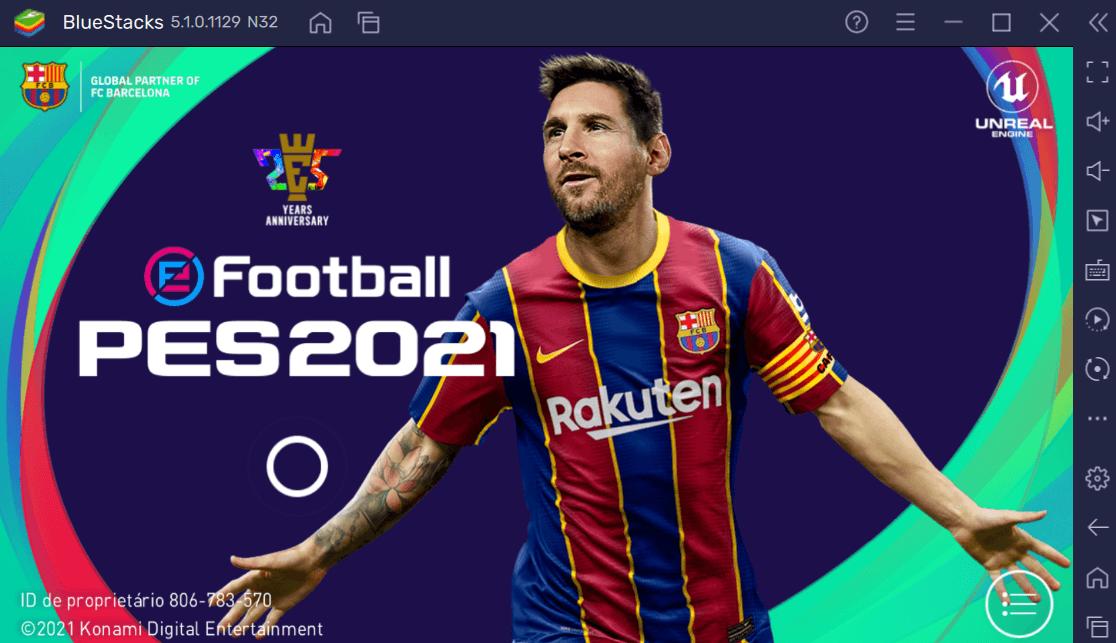 Jogue PES 2021 Mobile no PC de graça com controle ou teclado