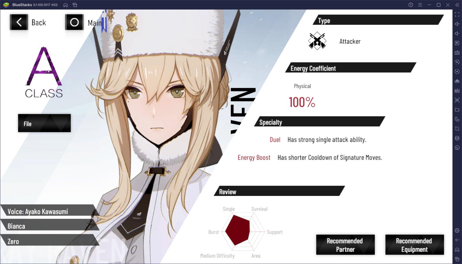 Punishing: Gray Raven – Unsere Auswahl der besten Charaktere im Spiel