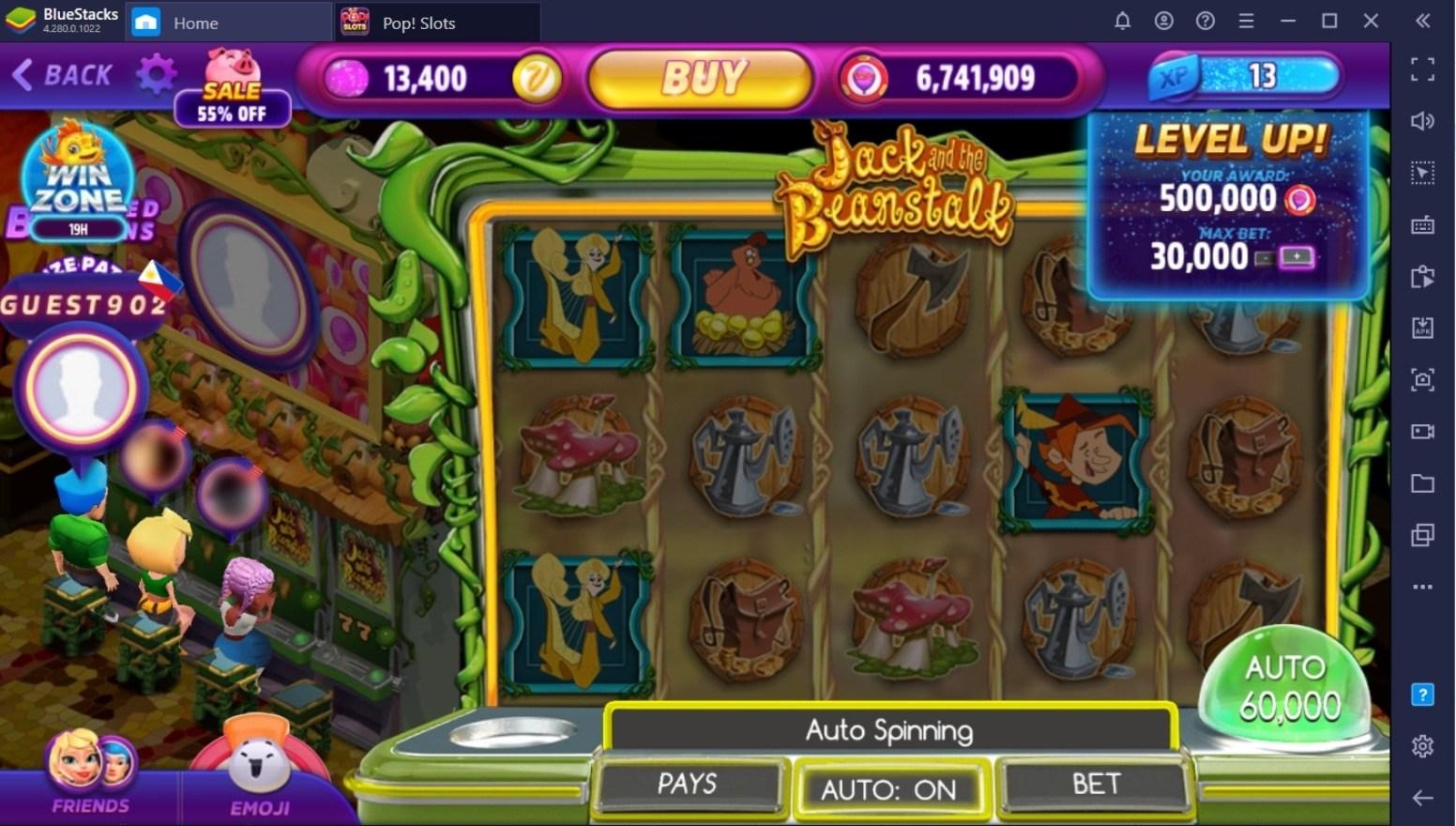 Comment Gagner un Max de Jetons dans POP! Slots Casino