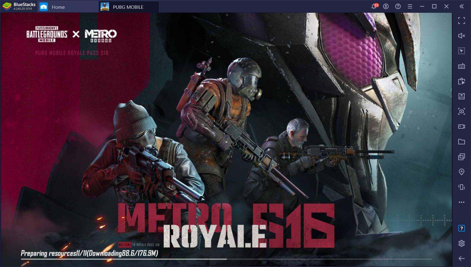 La Temporada 16 de PUBG Mobile Ofrece una Colaboración con Metro: Exodus