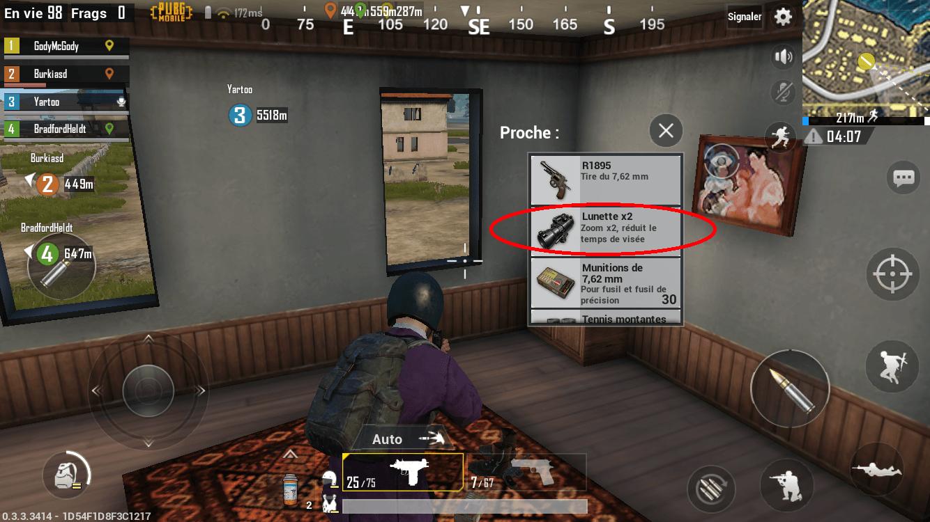 Guide pour jouer avec un fusil de précision dans PUBG Mobile