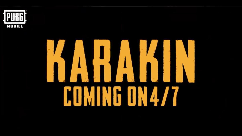 "PUBG Mobile wird ""Karakin"" dem Karten-Pool am 7. April Hinzufügen"