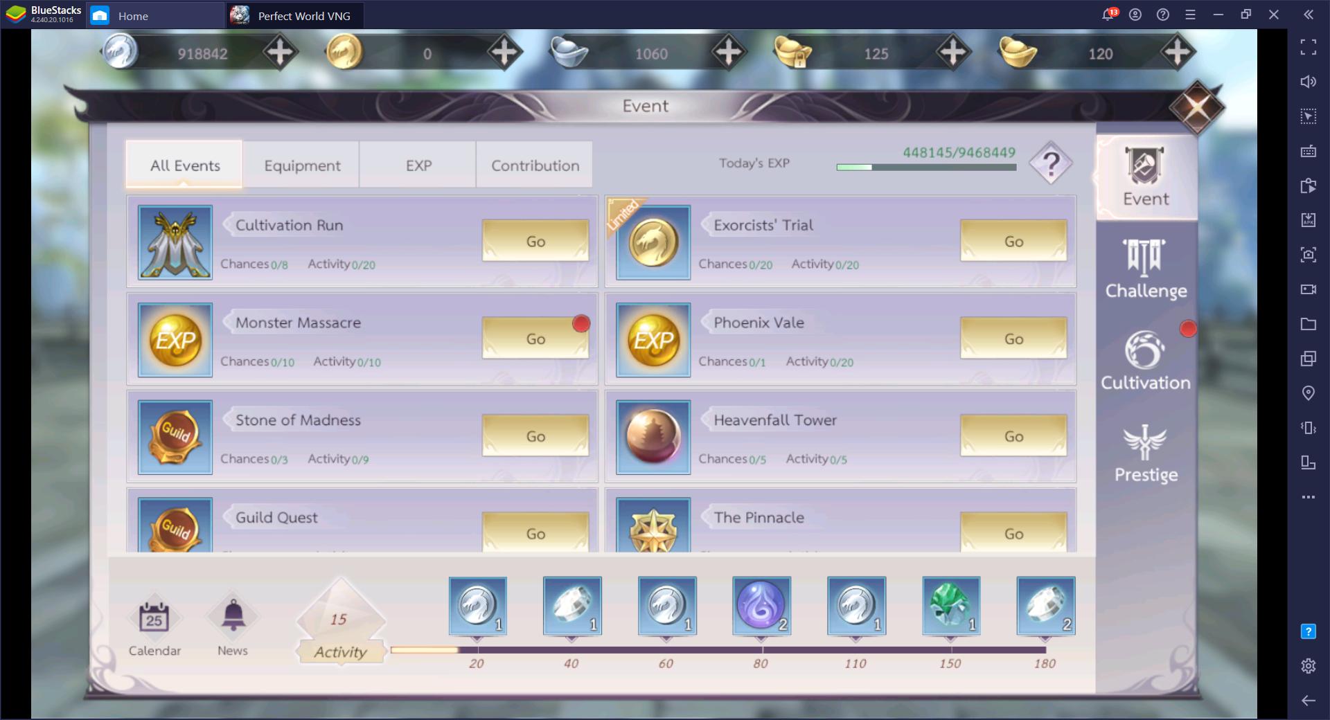 Panduan dan tips bermain Perfect World VNG
