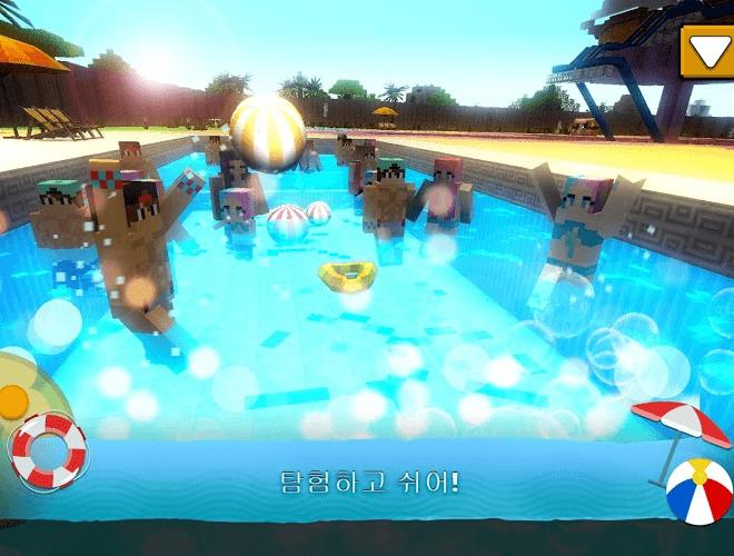 즐겨보세요 워터 파크 크래프트 : 3D 모험 워터 슬라이드 만들기 on PC 4