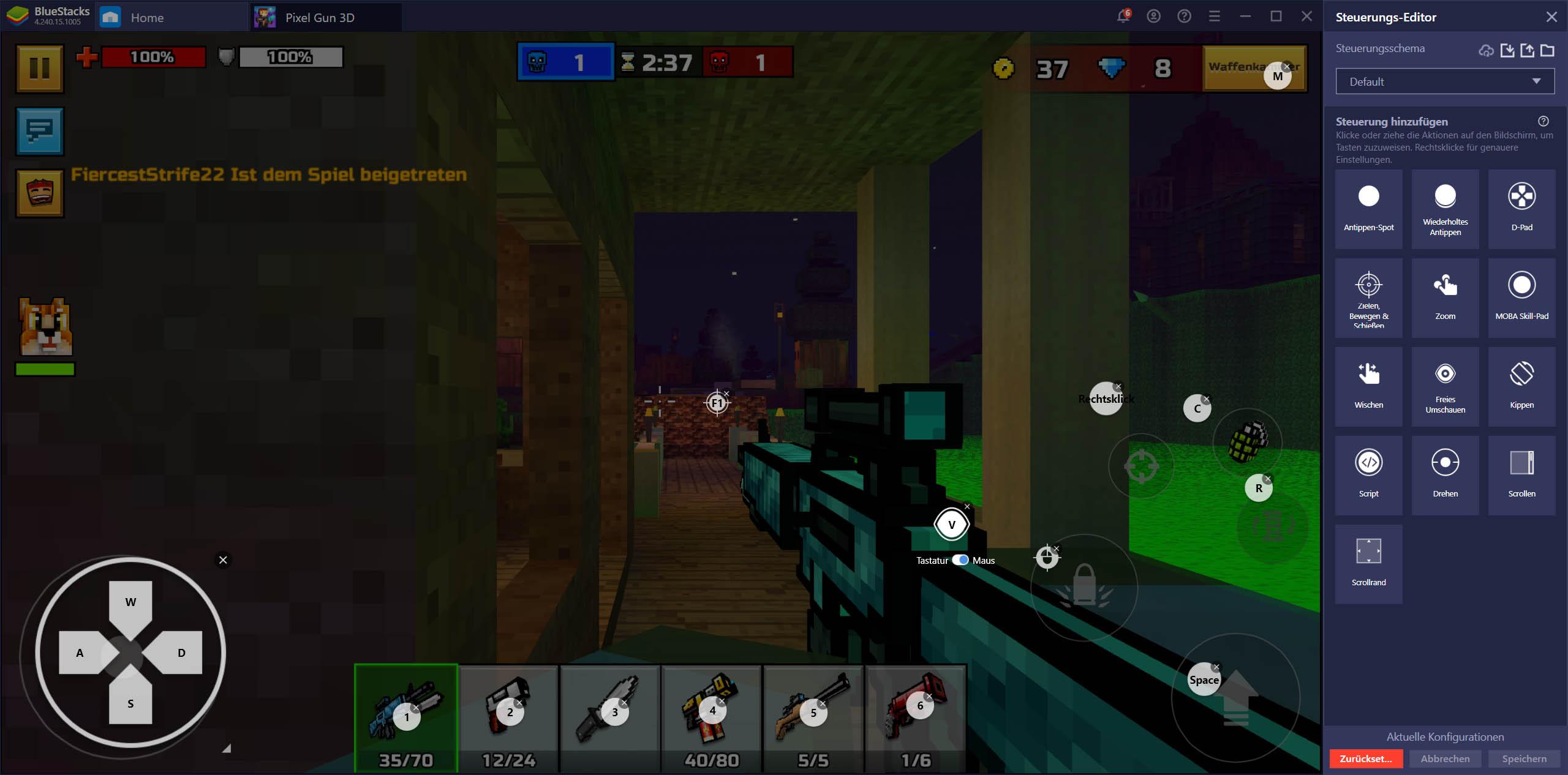 Pixel Gun 3D PC – Besser Ballern mit BlueStacks in diesem Shooter-Spiel