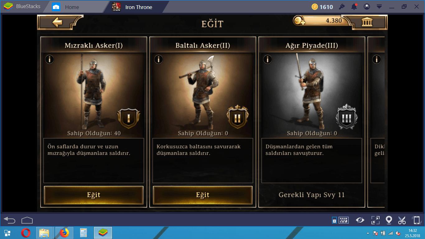 Iron Throne Oyun Modları ve Savaş Rehberi