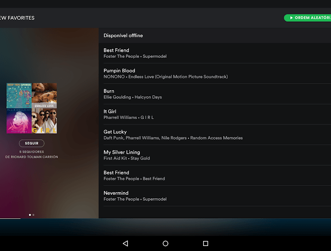 Jogue Spotify android app para PC 8