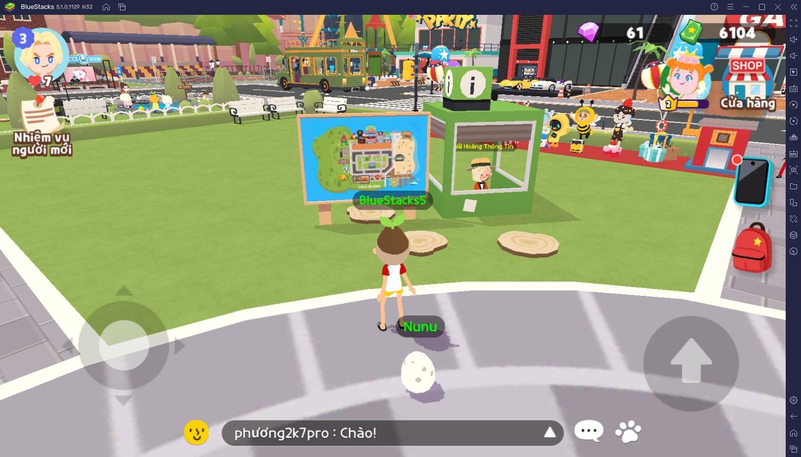 Chơi Play Together trên PC: Khám phá khu vực Plaza