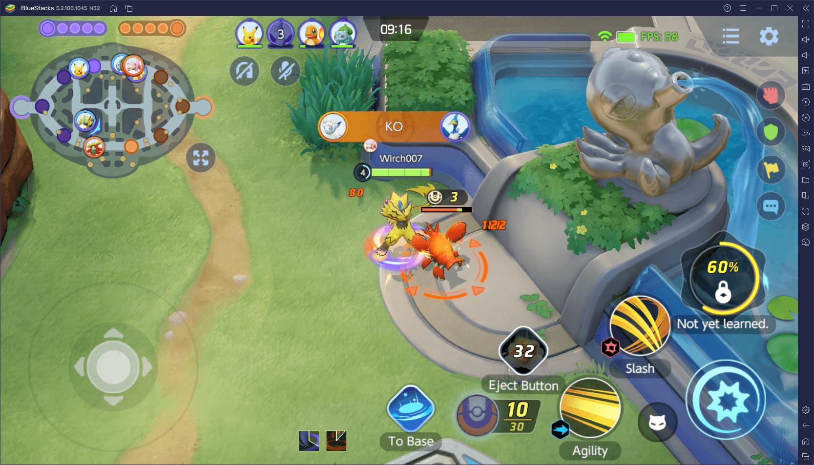 Pokémon Unite – walka w centrum