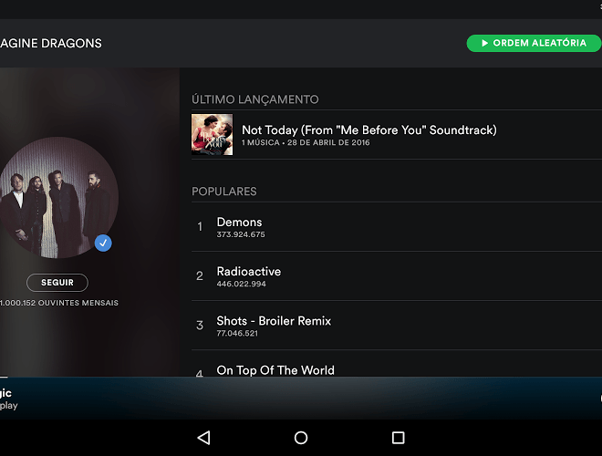 Jogue Spotify android app para PC 9