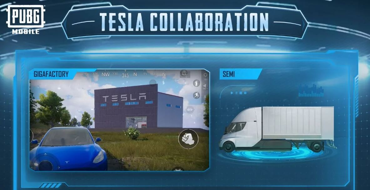 PUBG Mobile 1.5 : Elon Musk's Tesla Fleet Has Arrived