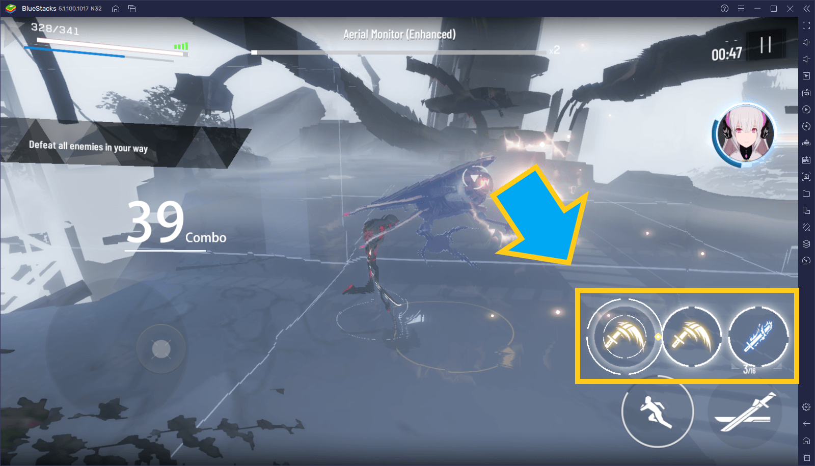 لعبة Punishing: Gray Raven – مقدمة التعرف على آليات القتال