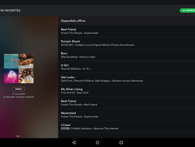 Gioca Spotify android app on PC 8