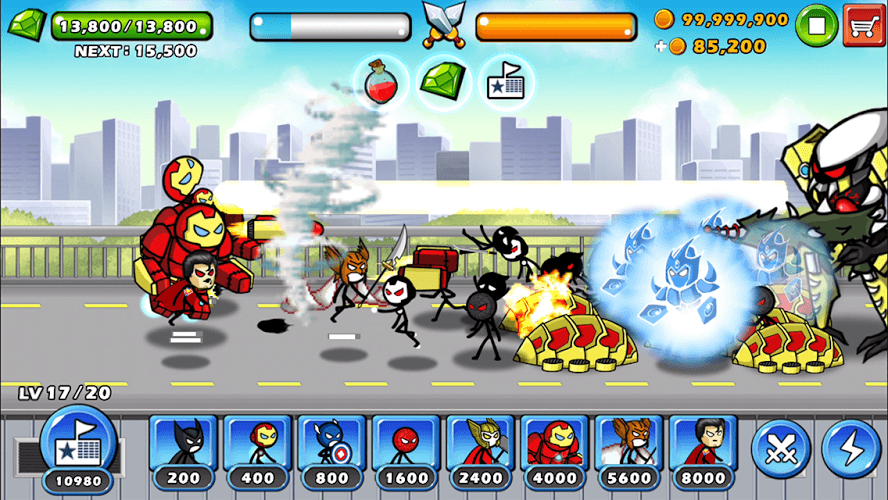 Chơi HERO WARS: Super Stickman Defense on PC 13