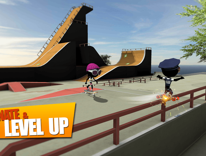 Play Stickman Skate Battle on PC 9