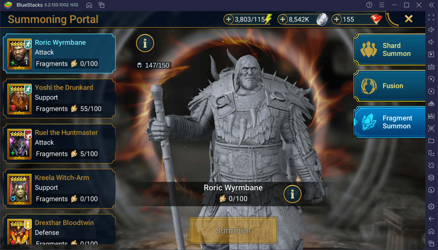 RAID Shadow Legends – Roric Wyrmbane Fragment-Fusion Leitfaden