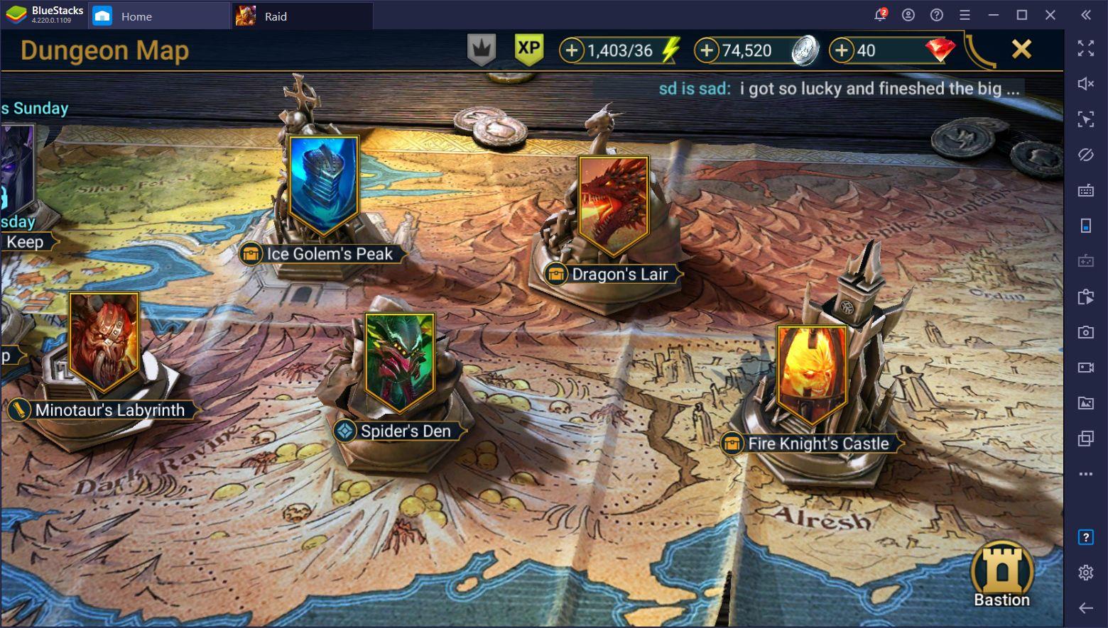 《突襲:暗影傳說 (RAID Shadow Legends)》:如何獲得經驗值、銀幣以及其他資源?