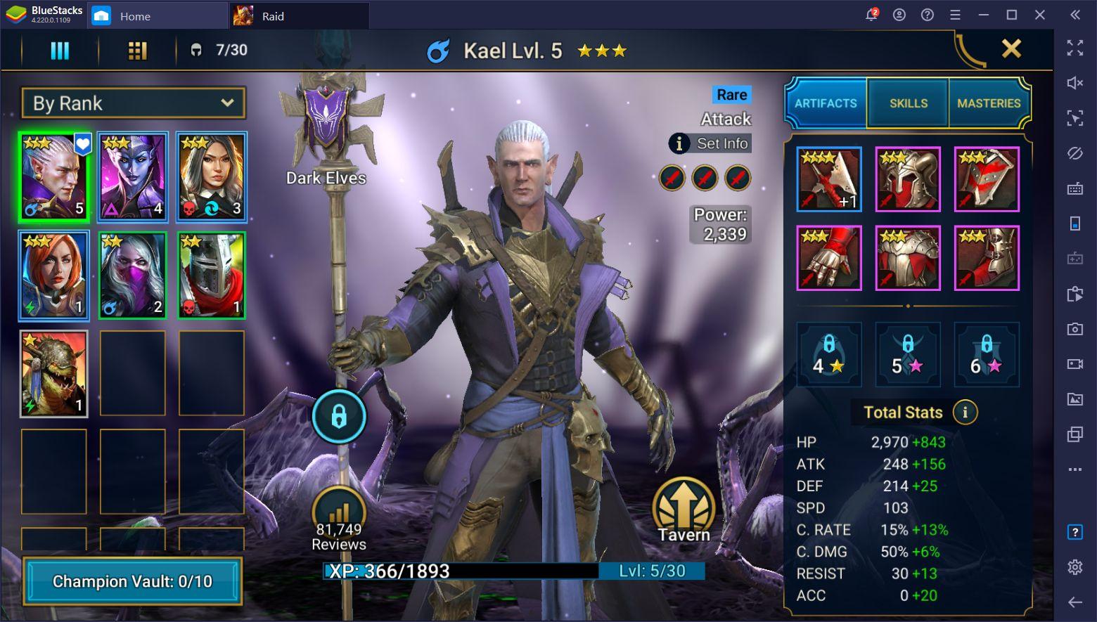 RAID: Shadow Legends เทคนิคเริ่มต้นและแนวทางการเล่น
