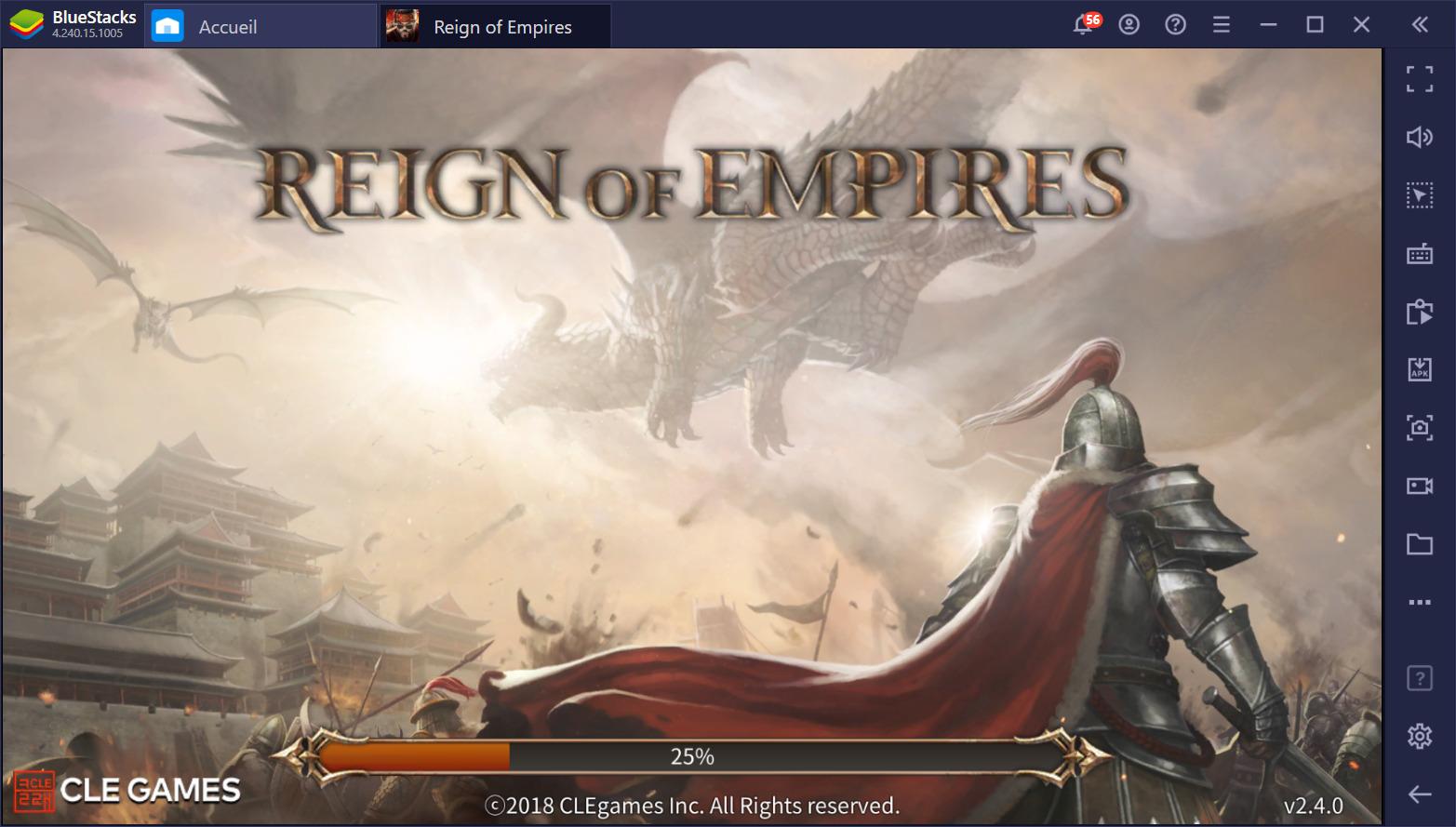 Jouer à Reign of Empires – Un RTS tactique aux batailles épiques disponible sur PC avec BlueStacks