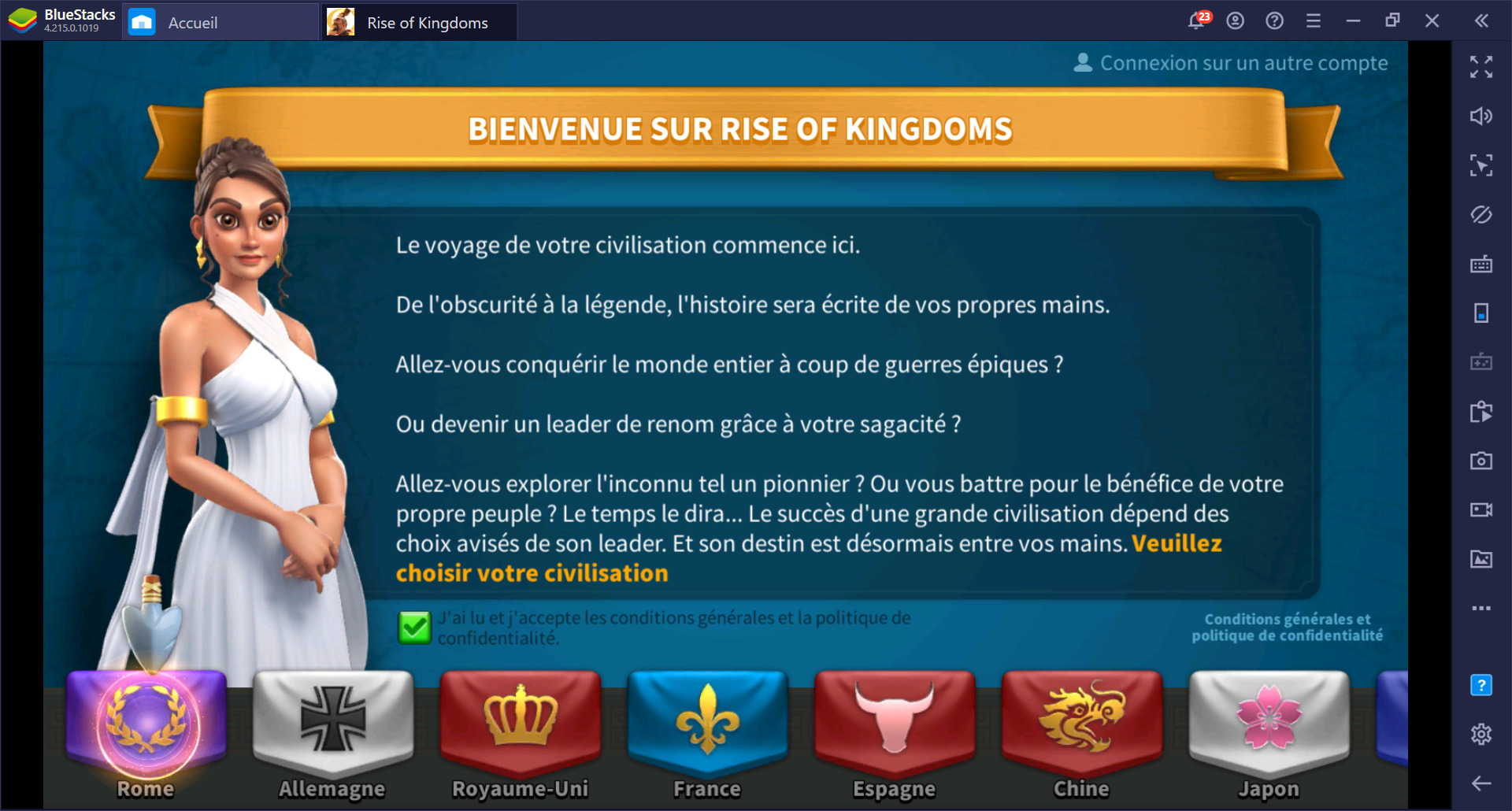 Rise of Kingdoms sur PC – Guide complet sur les civilisations