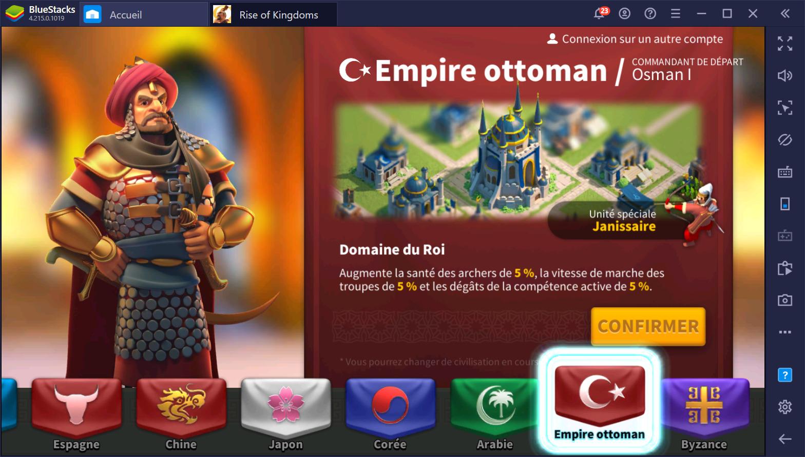 Rise of Kingdoms sur PC – Guide complet sur les civilisations