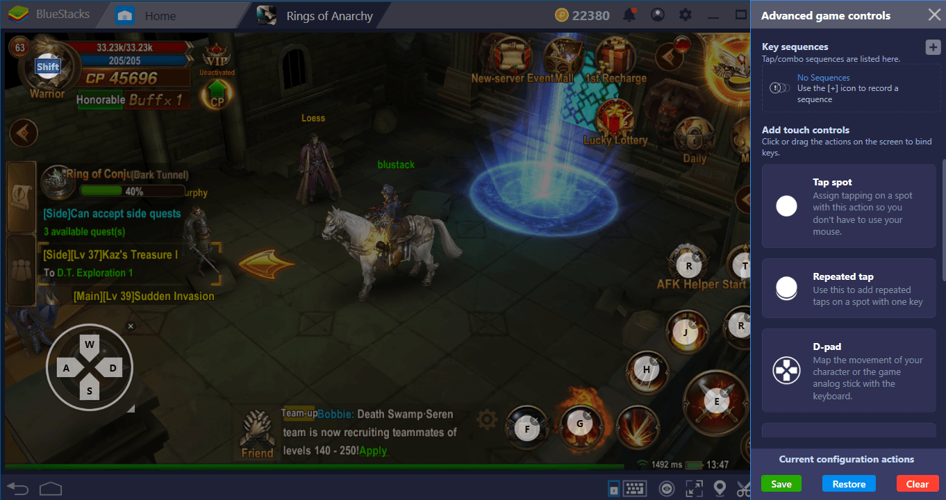 BlueStacks Setup Guide For Rings Of Anarchy