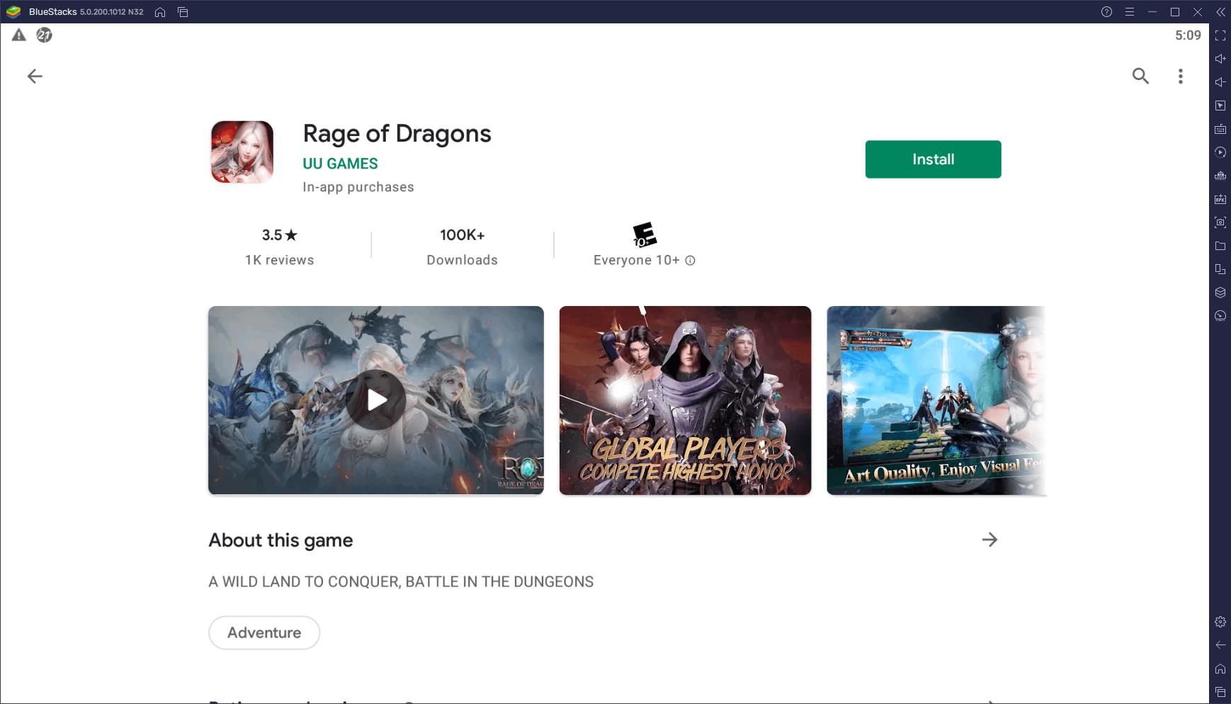 Comment Installer et Jouer à Rage of Dragons sur votre PC avec BlueStacks