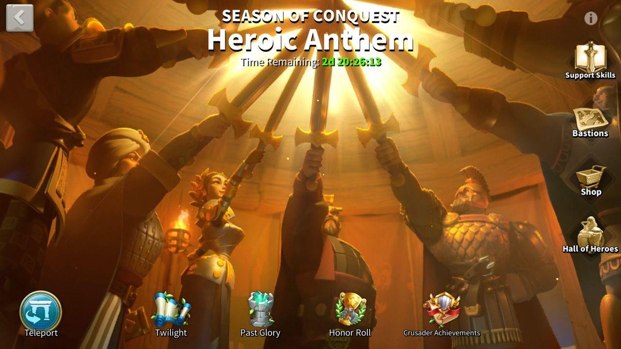 """Обновление """"Героический Гимн"""" для Rise of Kingdoms: новая система лагерей, синергия войск и многое другое!"""