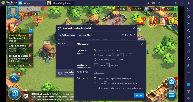 BlueStacks Makroları İle Rise of Kingdoms Oyununu Otomatikleştirin