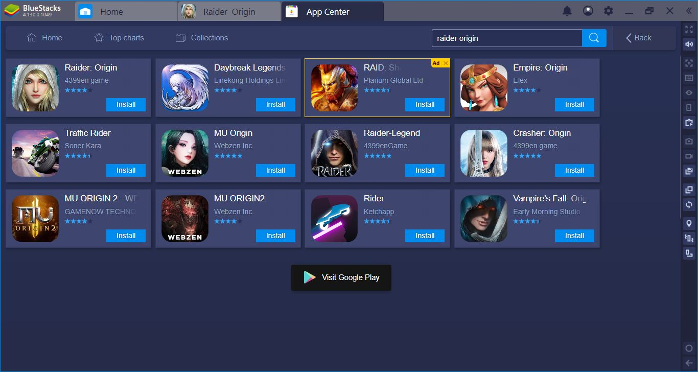 BlueStacks Install, Setup, And Configuration Guide For Raider Origin MMORPG