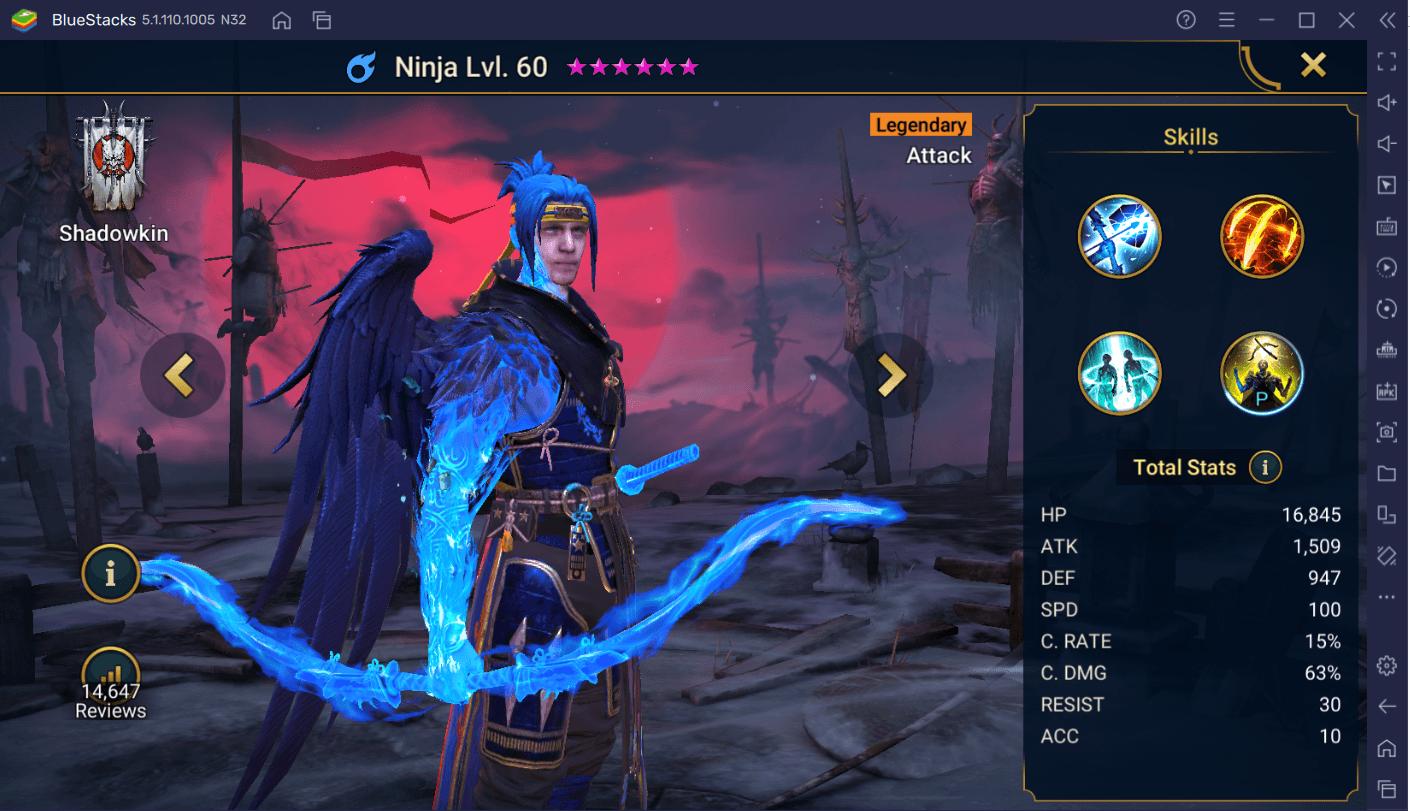 RAID: Shadow Legends – Le Guide du Champion Ninja