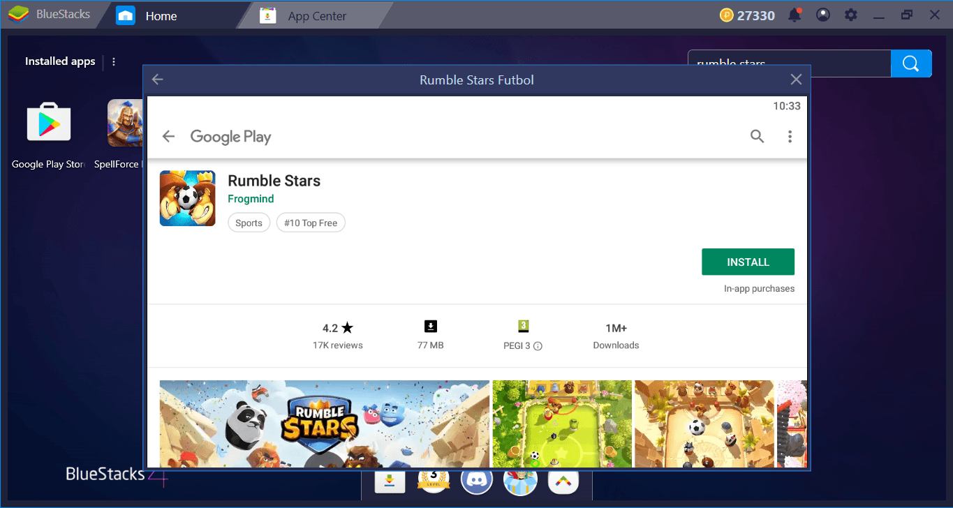 Let's Start A Rumble Stars Match On BlueStacks