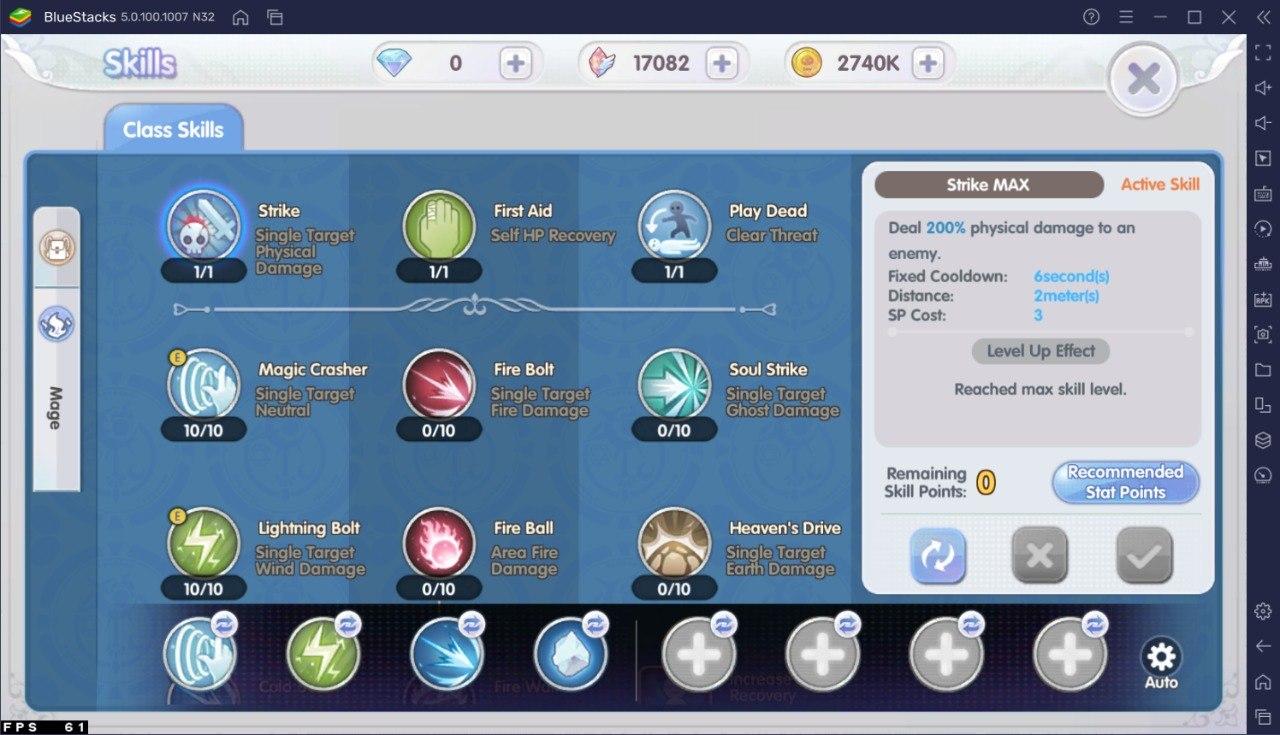 Guide Skill Build Mage – Ragnarok X: Next Generation!