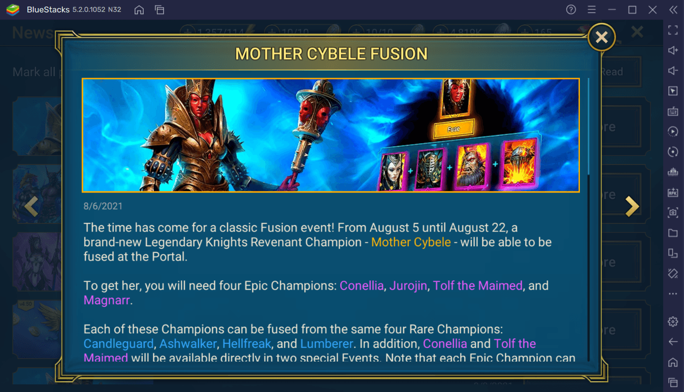 RAID: Shadow Legends – Mother Cybele Legendary Champion Fusion Guide