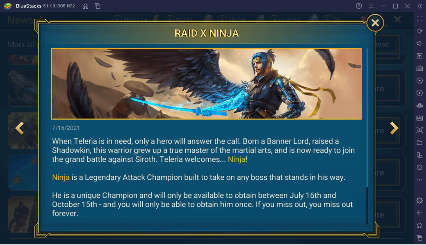 RAID: Shadow Legends – Ninja Champion Guide
