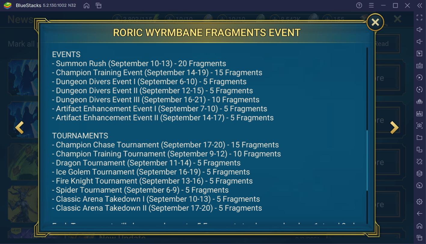 RAID: Shadow Legends – Roric Wyrmbane Fragment Fusion Guide