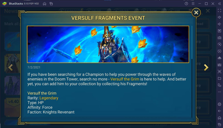 RAID: Shadow Legends – Versulf the Grim Fragment Fusion Guide