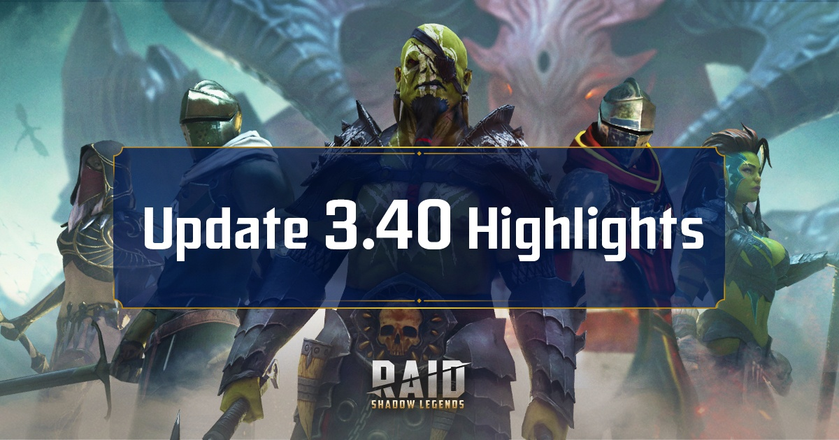 RAID: Shadow Legends Patch 3.40 – The Shadowkin Faction, New Characters and Much More