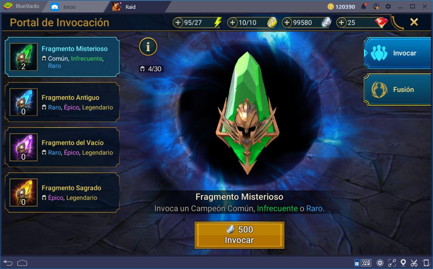 Cómo Obtener Fragmentos y Expandir tu Equipo en RAID: Shadow Legends