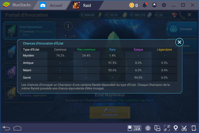 Comment obtenir des éclats et agrandir son équipe dans RAID: Shadow Legends