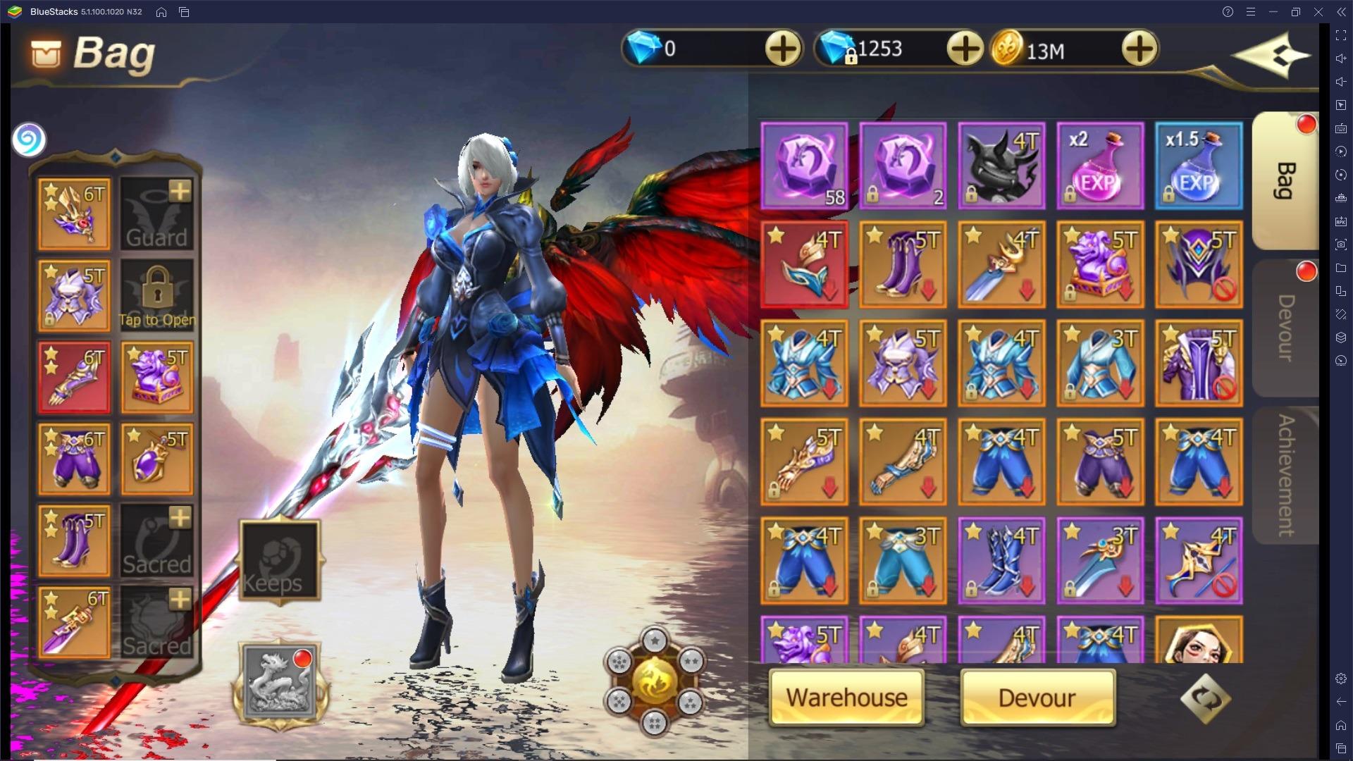 Guida all'equipaggiamento in Rebirth of Chaos: Eternal Saga