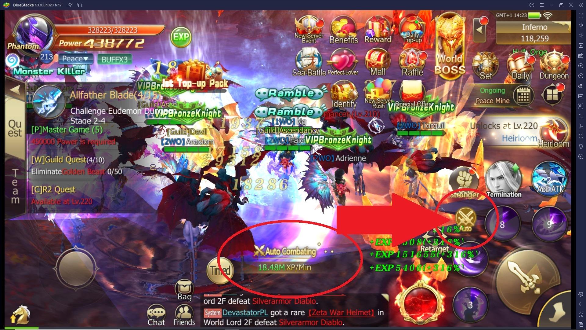 Come Farmare punti EXP e Oro in Rebirth of Chaos: Eternal Saga!