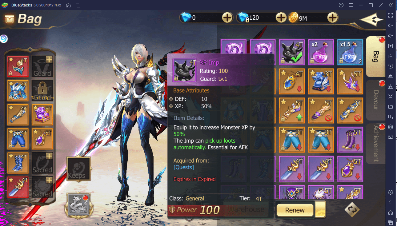 EXP and Gold Farming in Rebirth of Chaos: Eternal Saga
