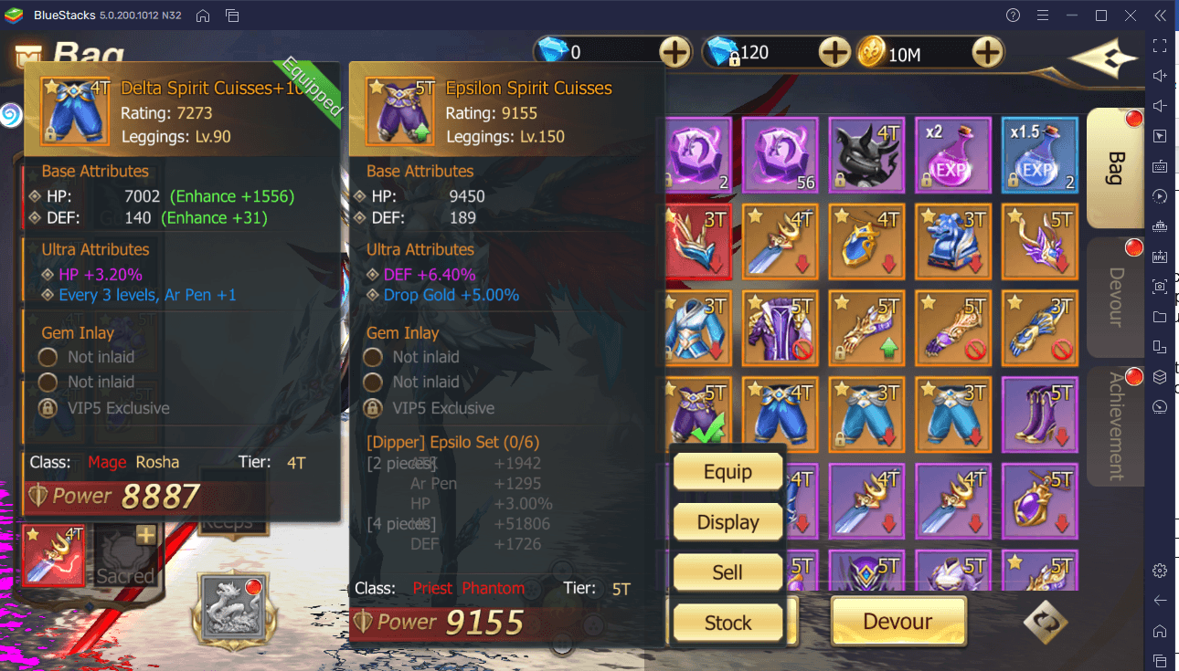 A Guide to Gear in Rebirth of Chaos: Eternal Saga